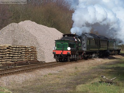 65 drifts downgrade past the ballast for the extension