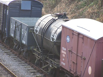 An Esso tank wagon and an SECR open wagon