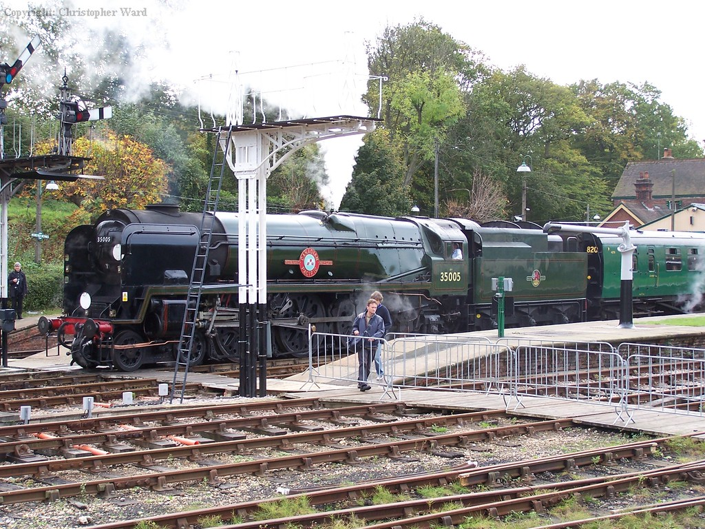 35005 waits to leave Horsted keynes