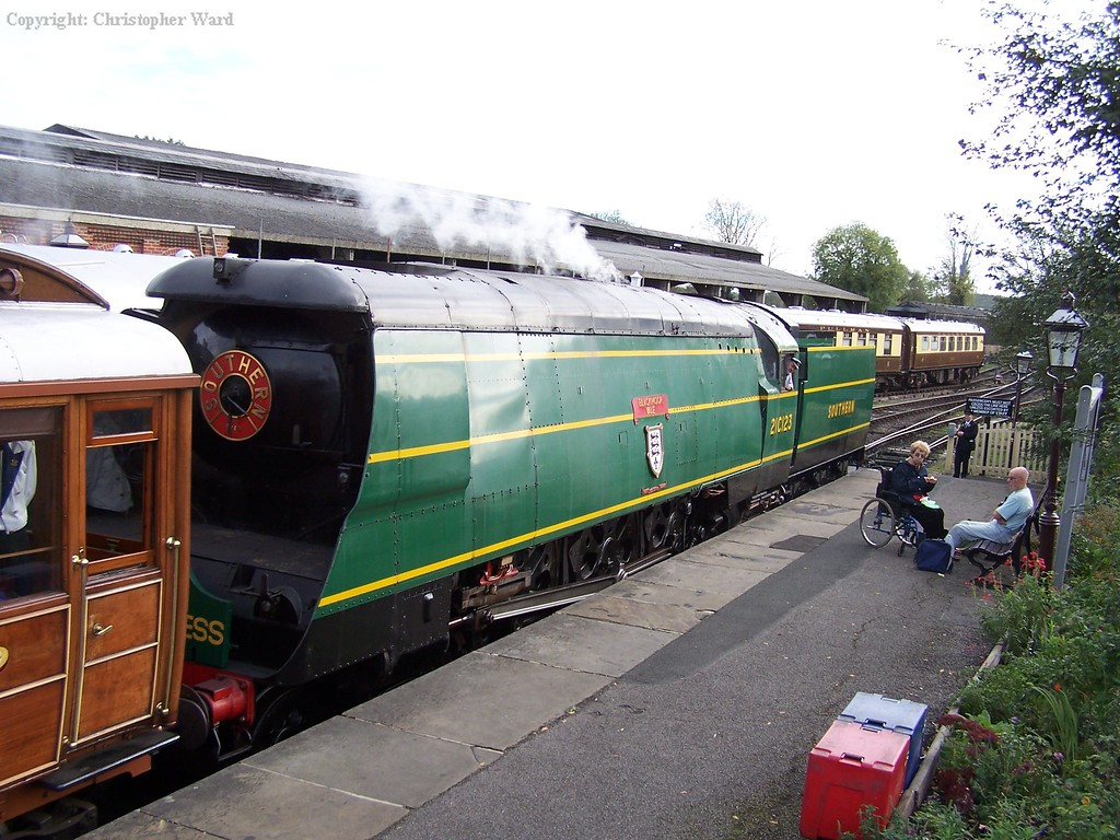 21C123 upon arrival at Sheffield Park