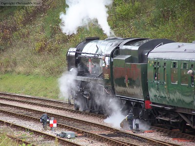 35005 leaves Horsted Keynes