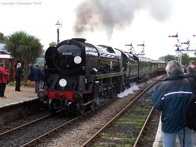 35005 arrives at Horsted