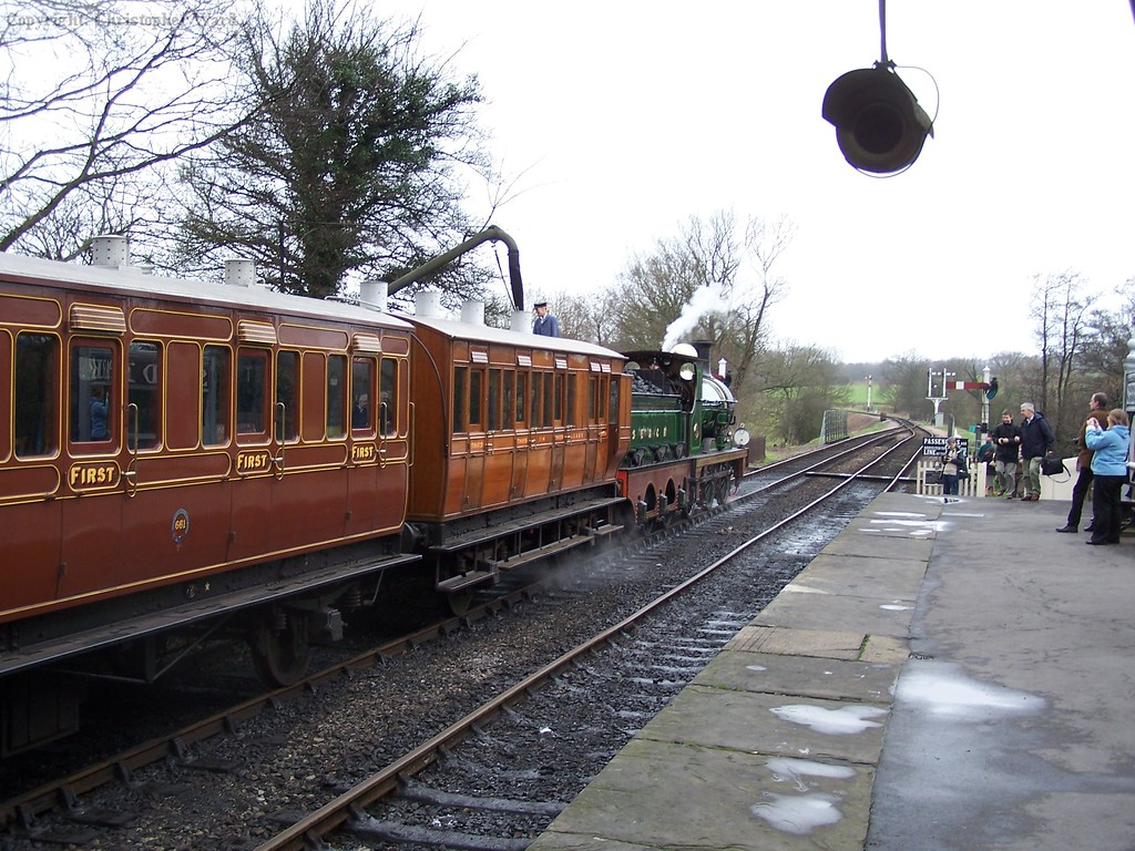 65 takes water with two vintage coaches in tow