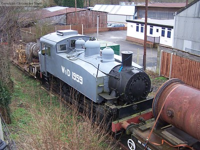 The USA tank stored out of use at Sheffield Park