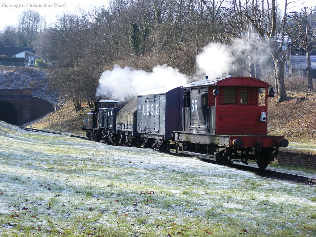 The freight trundles south