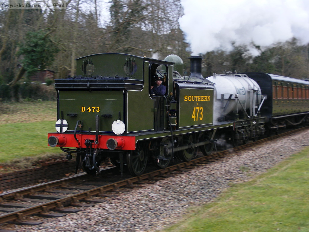 The E4 is a blur as she steams through