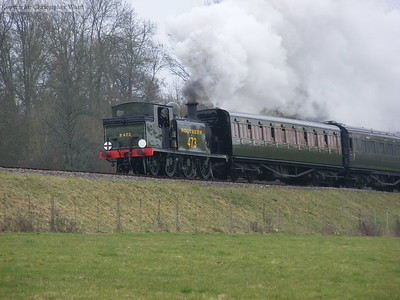 B473 saunters up the hill with matching stock
