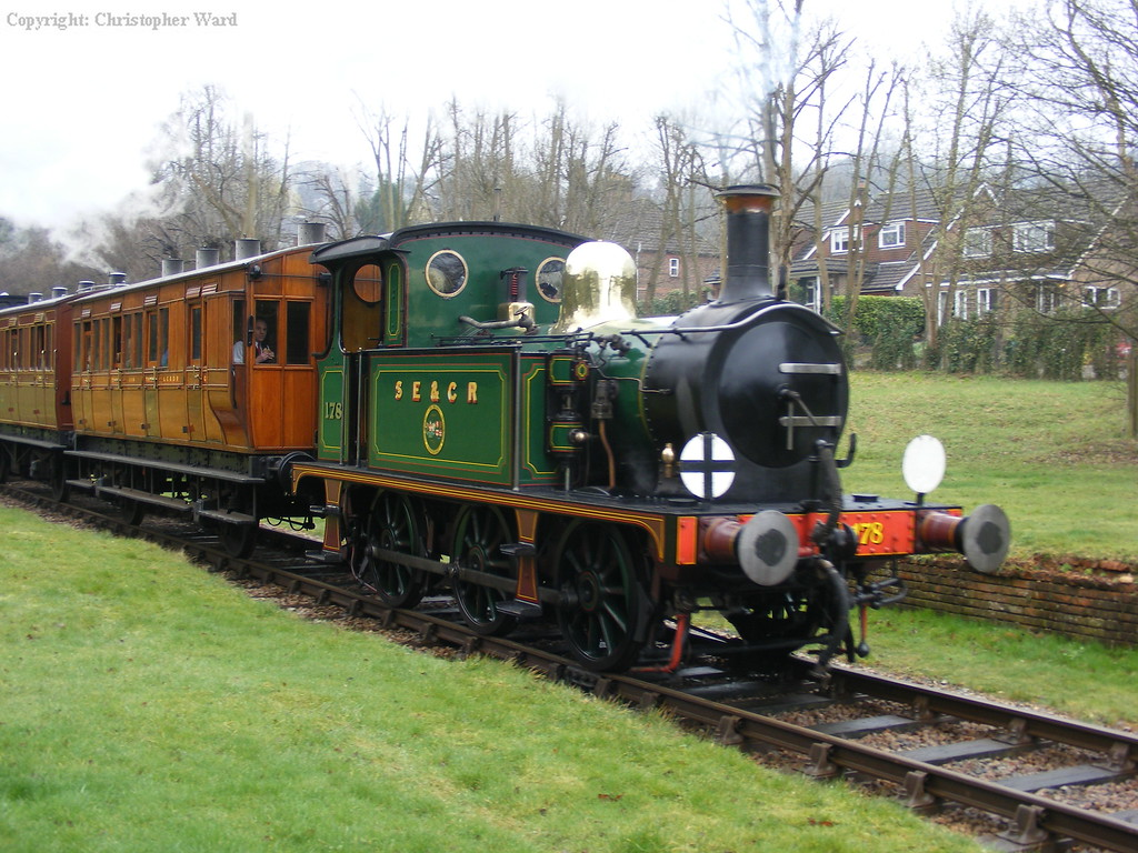 The ornate livery on the P class shines despite the grim conditions