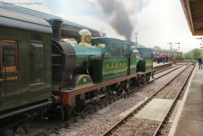 Chatham tanks large and small team up with a Sheffield Park train