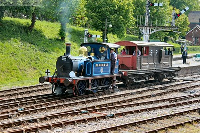 Having relieved 178, 323 undertakes brake van duties