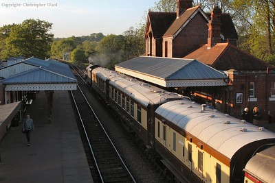 The Pullman set in the evening light