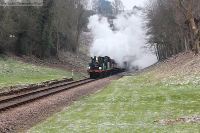 The Chatham tank engines battle through the cold conditions