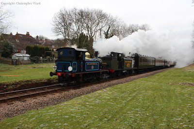 The Southern Railway-era train returns toward East Grinstead