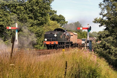 30541 arrives at Sheffield Park with the freight