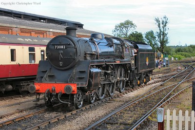 73082 draws off her train and back towards the freight