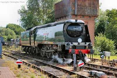 City of Wells running round her train