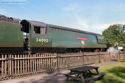 34092 oozes power in the morning sunshine