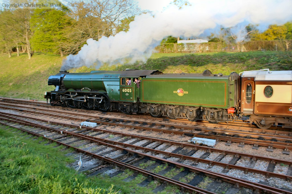 Flying Scotsman in the failing light