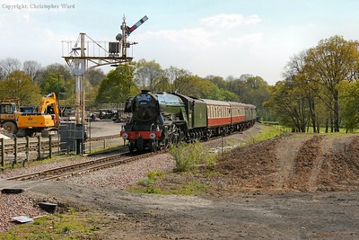 60103 approaches Horsted Keynes northbound in daylight for the last time during her visit