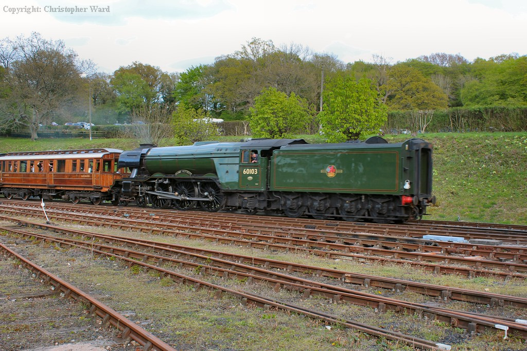 60103 takes her last public train of the day south