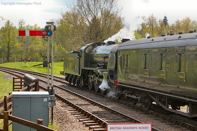 With Scotsman having passes, 847 gets away for Horsted Keynes