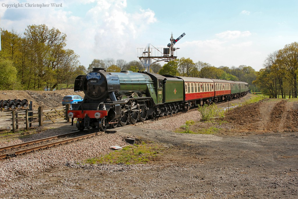 Flying Scotsman coming to the end of her Easter duties in Sussex