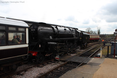 The 9F simmers upon arrival