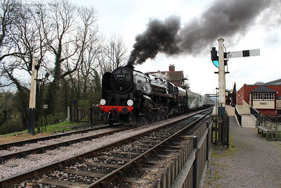 92212 makes smoke at Sheffield Park