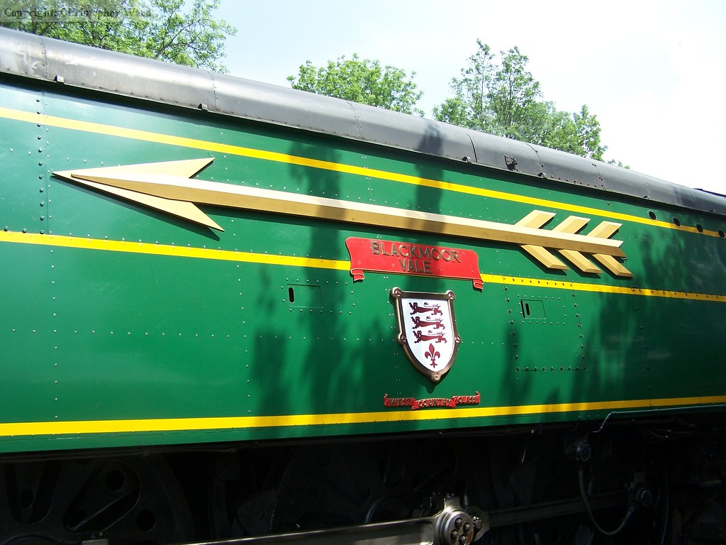 Regalia on the side of the Bulleid