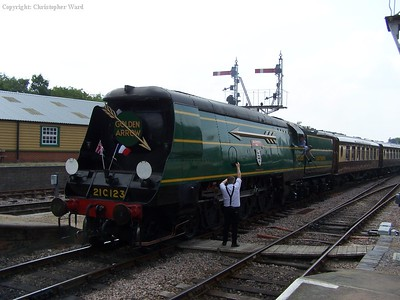 The Golden Arrow glides through