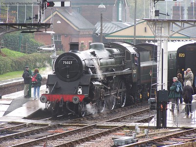75027 prepares to leave a damp Horsted