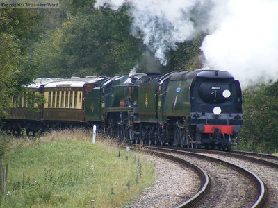 34081 leads 34028 into Kingscote