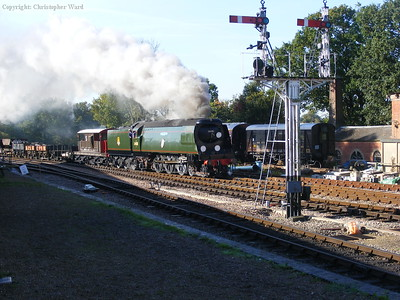 34081 arrives with a morning freight