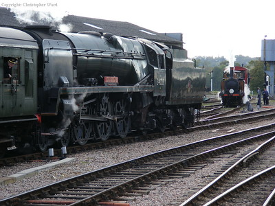 Eddystone passes Stepney with a Sheffield Park service