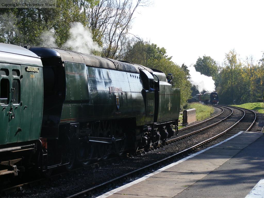 34007 waits for Blackmoor Vale