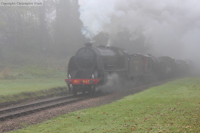 847 brings the early morning goods through the fog