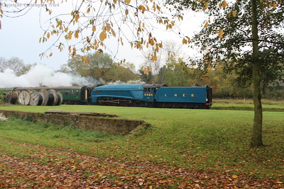 On her last day of active service before withdrawal for overhaul, Bittern coasts through West Hoathly