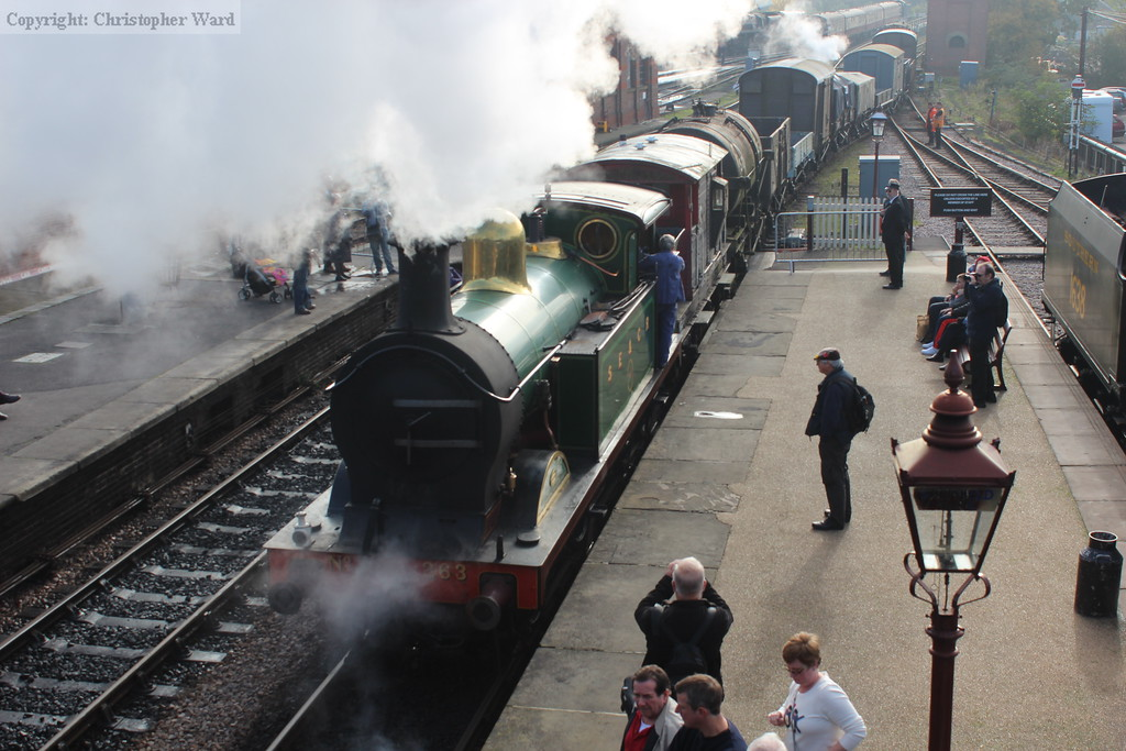263 shunts the goods out of the platform and into the pumphouse siding