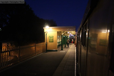 Darkness descends over East Grinstead station as the crowds head for home via the Southern station