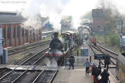 A cacophony of steam from the combined efforts of the H and Q classes