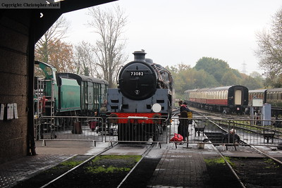 73082 Camelot is prepared for service on her comeback weekend