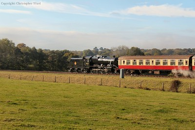 The 8F glints in the morning sunshine