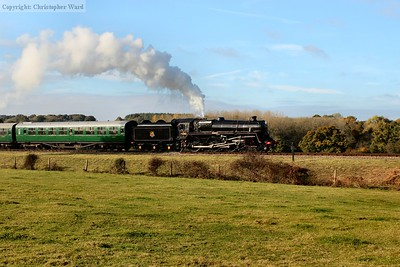 73082 blows off while slowing for the signal check on the approach to Horsted
