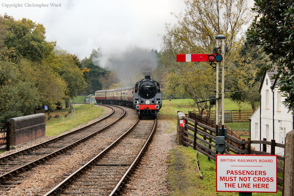 Camelot, standing in for the errant B12, approaches Kingscote with the B&C set