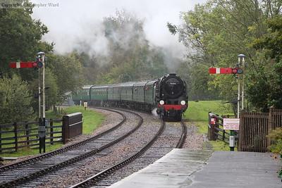 Britannia with a northbound train