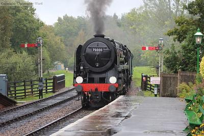 Britannia enters the station