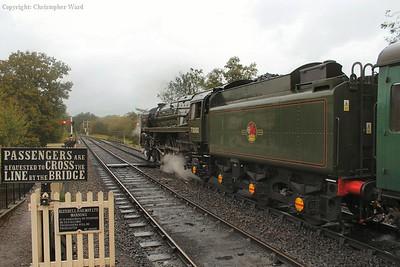 Britannia prior to departure