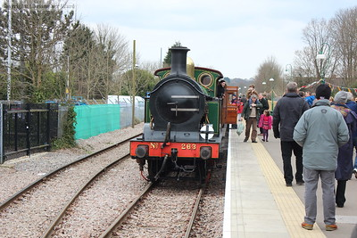 The H class prepares to run round the stock for the return journey