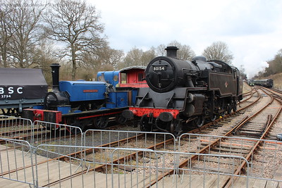 Important engines from either end of the original lifetime of the Bluebell Railway