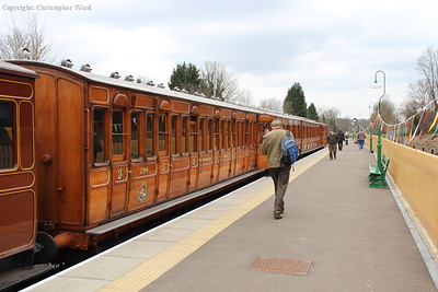 The Metropolitan coaches, still shining from their extra-varnishing prior to their starring role in the Met 150 celebrations